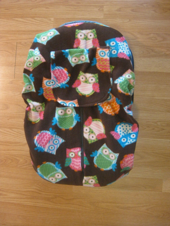 Brown Owls Fleece Infant Car Seat Cover By Hollyscreations