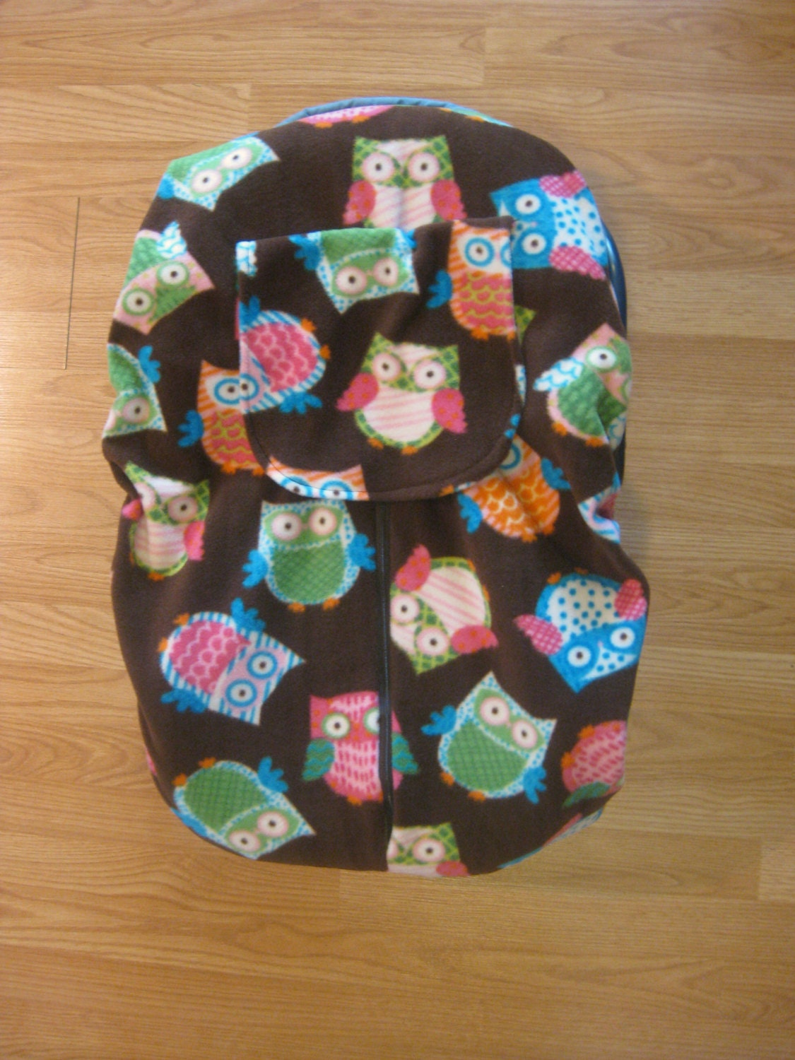 brown owls fleece infant car seat cover by hollyscreations on etsy. Black Bedroom Furniture Sets. Home Design Ideas