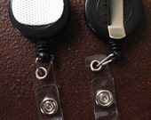 Velcro Clip on Black Retractable Badge Reel