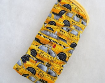 Quilted Sunglass/Eyeglass case - NYC taxi cabs