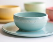Dinner Plate and Noodle Bowl Set - Dinnerware - Dish and Bowl