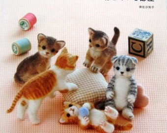 Needle Felting - Cats in the Room Japanese Craft Book