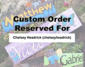 Reserved Order for chelseyheadrick - Lake and Water Plane Themed Custom Wood Personalized Sign, Custom Name Plaque, Kids Name Sign