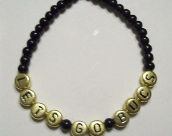 Black and Gold Lets Go Bucs Pittsburgh Pirates Bracelet