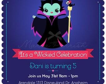 Maleficent Party Invitation