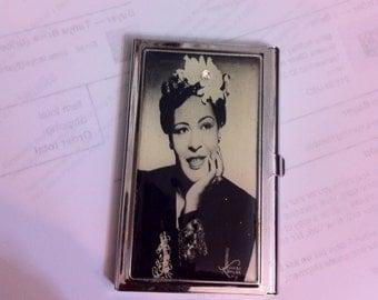 Billie Holiday Portrait Business Card Holder Credit Card Case