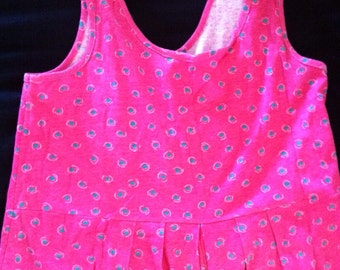 Vintage Funky 80's summer jumper shorts overalls one piece