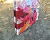 8 by 8 Fabric Scrapbook with Sewn Tapes Binding