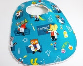 Cotton Chenille Toddler Bib with Adjustable Snaps - Little Scientists