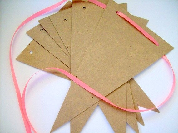 Banner supply, bunting, pennant, garland supply, set of 8
