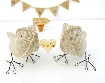 Garden Wedding Love Birds We Do! Rustic Woodland Outdoor Barnyard Weddingmade to order check processing times