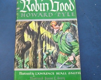 The Merry Adventures Of Robin Hood By Howard Pyle 1952 HB Grosset & Dunlap DJ