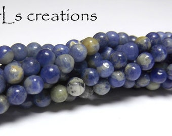 Sodalite 4mm Rounds 16IN Strand