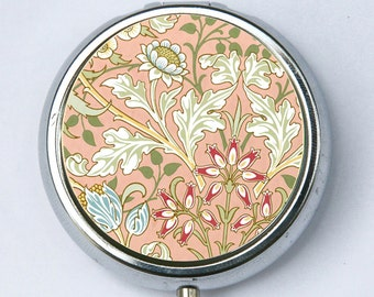 Art Nouveau Floral Hyacinth, Pill case pillbox pill holder floral design pattern