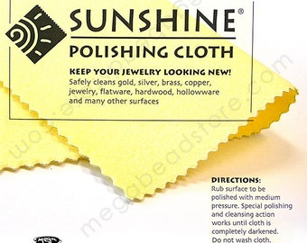 2 pcs SUNSHINE Jewelry Polishing Cloth for Gold Silver Bronze and Copper Metals