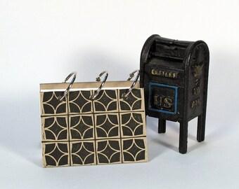 Card-File Address Book Double Stuffed - Decorative Blocks