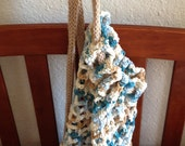Market Bag in Ocean Blue, Sand, Natural; Backpack, Tote, Bookbag, Carry-all, Ecofriendly