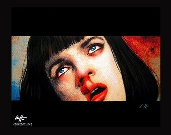 "Print 8x10"" - Girl you'll be a women soon - Pulp Fiction Mia Wallace Quentin Tarantino Heroin Drugs Overdose 90s Guns Uma Thurman Pop Art"