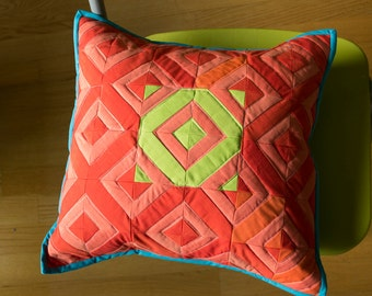 Red Diamonds Pillow Cover