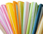 10 Pieces-Striped pattern and colors- Japanese Paper (ONLY A type)