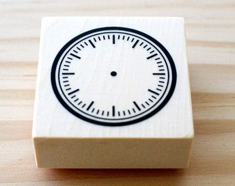Rubber stamp - Clock