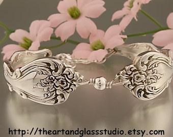 Silver Spoon Bracelet INTERLUDE Jewelry Vintage, Silverware, Gift, Anniversary, Wedding, Birthday