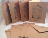 Police Box Stationary Cards Sci-Fi inspired