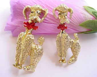 Pair of Poodle Pins - Pair with one Smaller - Clearance Sale
