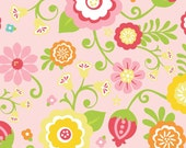 SALE - 1 yard - Simply Sweet Pink Cotton Fabric Lori Whitlock for Riley Blake Fabrics