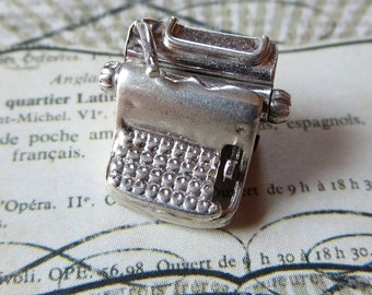 Vintage Sterling Replica Charm of Mechanical Calculator or Adding Machine For Bookkeeping Use in Office