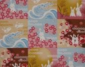Rabbit Fabric Japanese Furoshiki 'Bunny Rabbit Collection' Cotton Square 50cm w/Free Insured Shipping