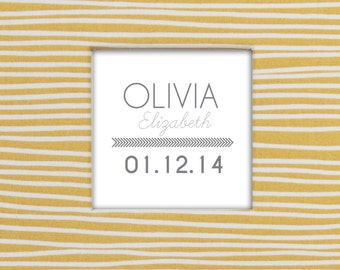 Personalized Arrow Name Insert for Baby Memory Book Cover