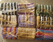 Traditional Striped Cotton Washcloths Or Dishcloths