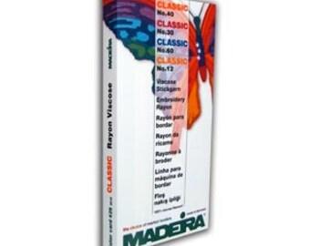 Madeira Thread Color Card-Classic Rayon or Polyneon