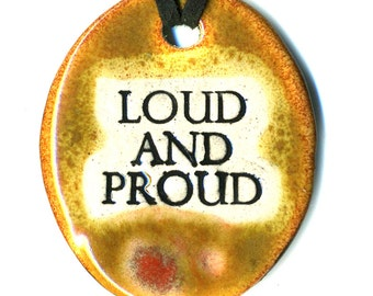 Loud and Proud Ceramic Necklace in Earth Tones