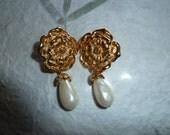 Reserved.....Designer Signed Avon Earrings