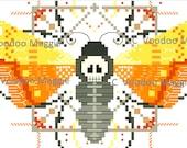 Death's Head Moth Cross stitch pattern PDF