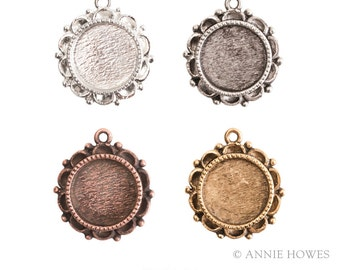 2 Pack Ornate Mini Pendant Charm. Choose Your Color. Silver, Antique Silver, and Antique Gold. Annie Howes. OMPCS-SB