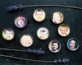 Reserved for Melissa- Three PERSONALIZED bottle cap magnets - custom made with YOUR photos