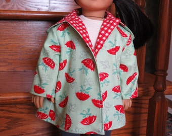 April Showers Coat for American Girl / 18 inch doll