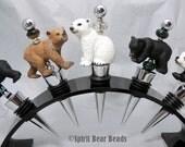 Bear Wine Stoppers Your Choice Black bear Polar Bear Panda Bear or Grizzly Bear