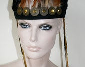Feather Gold Head Dress Feather Crown Head Piece Festival Coachella