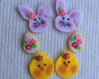 Felt Bunny Chick Egg Sampler
