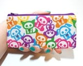 SALE - Candy Coated Skelanimals Long Zipper Pouch