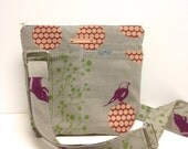 Cross Body Shoulder Bag in Birds and Butterflys