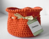 Slouchy Sack Basket Rust Burnt Orange Fall Special