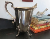 Hartford Sterling Company Antique American Silverplate Footed Water Pitcher