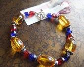 Opulence Glass and Acrylic Beaded bracelet