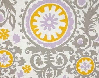SUZANI twill wisteria valance suzani valance lavender yellow valance