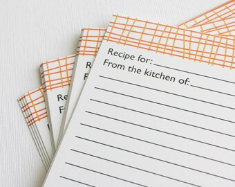 Orange Recipe Cards